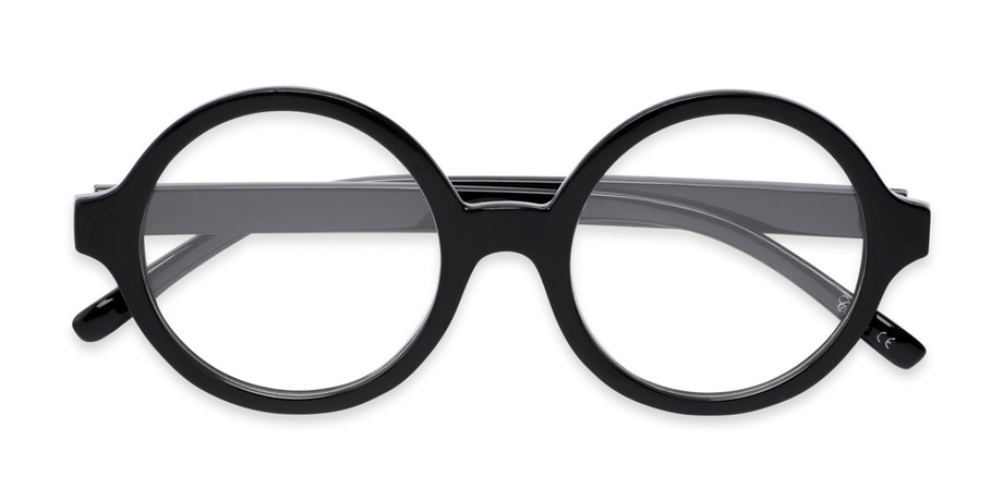 Thick-Rimmed Oversized Round Reading Glasses