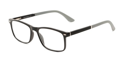 Angle of The Arvil in Black/Grey, Women's and Men's Rectangle Reading Glasses