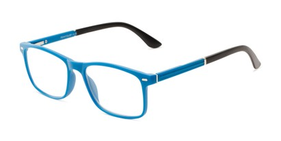 Angle of The Arvil in Blue/Black, Women's and Men's Rectangle Reading Glasses