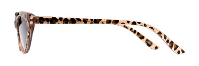 Side of The Ashlee Reading Sunglasses in Brown Leopard with Smoke