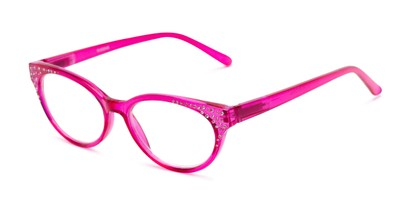 Angle of The Astrid in Pink, Women's Cat Eye Reading Glasses