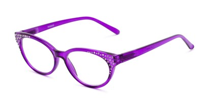 Angle of The Astrid in Purple, Women's Cat Eye Reading Glasses