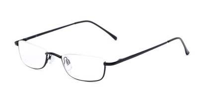 Angle of The Atlas in Black, Women's and Men's Rectangle Reading Glasses