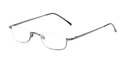 Angle of The Atlas in Gunmetal, Women's and Men's Rectangle Reading Glasses