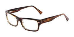 Angle of Atwood by felix + iris in Brown Stripe, Women's and Men's Retro Square Reading Glasses