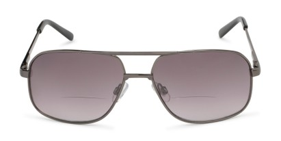 Front of The Axel Bifocal Reading Sunglasses in Grey with Smoke