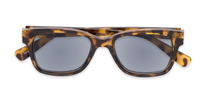 Folded of The Azalea Reading Sunglasses in Tortoise with Smoke