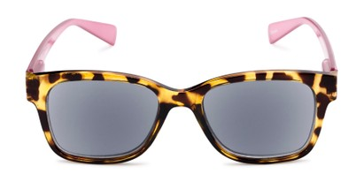 Front of The Azalea Reading Sunglasses in Tortoise/Pink with Smoke