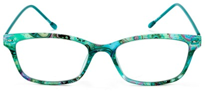 Front of The Clementine Flexible Reader in Blue Paisley