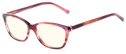Angle of The Rose Blue Light Blocking Reader in Pink Tortoise, Women's Cat Eye Reading Glasses