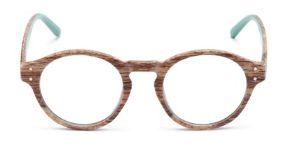 unique wood texture round colorful frame readers