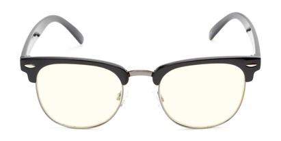 Front of The Barley Unmagnified Computer Glasses in Black/Grey with Light Yellow