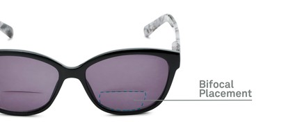 Detail of The Beachy Bifocal Reading Sunglasses  in Black/Grey Tortoise with Smoke