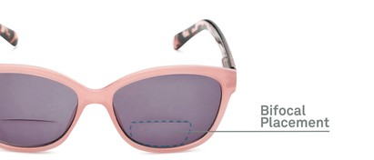 Detail of The Beachy Bifocal Reading Sunglasses  in Pink/Tortoise with Smoke
