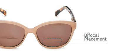 Detail of The Beachy Bifocal Reading Sunglasses  in Tan/Tortoise with Smoke
