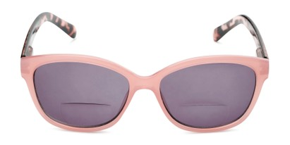 Front of The Beachy Bifocal Reading Sunglasses  in Pink/Tortoise with Smoke