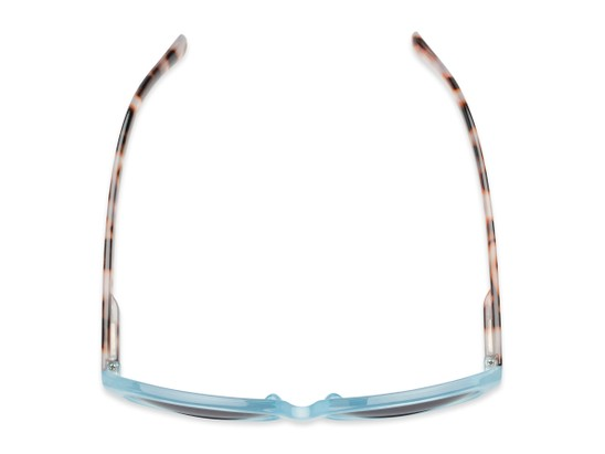 Overhead of The Beachy Bifocal Reading Sunglasses  in Light Blue/Clear Tortoise with Smoke