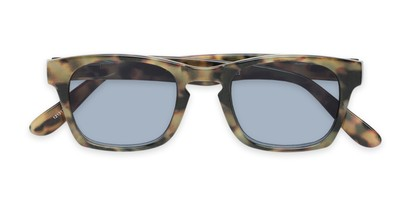 Folded of The Beacon Reading Sunglasses in Brown Tortoise with Smoke