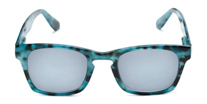 Front of The Beacon Reading Sunglasses in Blue Tortoise with Smoke