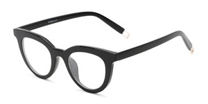 Angle of The Beatrix in Black, Women's Cat Eye Reading Glasses