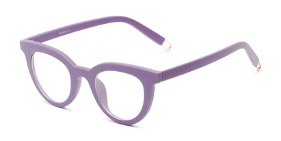 Angle of The Beatrix in Matte Purple, Women's Cat Eye Reading Glasses