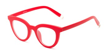 58055b7fe23c Angle of The Beatrix in Matte Red, Women's Cat Eye Reading Glasses