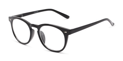 Angle of The Beethoven Blended Bifocal in Black, Women's and Men's Round Reading Glasses