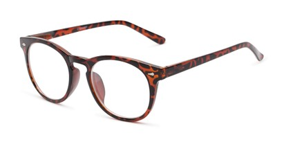 Angle of The Beethoven Blended Bifocal in Tortoise, Women's and Men's Round Reading Glasses