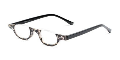 Angle of The Benton in Black/Tan Tortoise, Women's and Men's Round Reading Glasses
