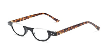 Angle of The Benton in Black and Tortoise, Women's and Men's Round Reading Glasses