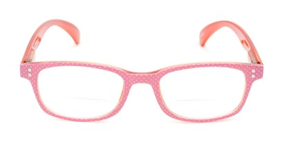 Front of The Betsy Bifocal in Pink Dot with Orange
