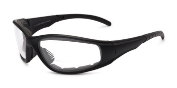 043b9a9fcb5 Angle of Clear Bifocal EVA Safety Goggles in Black Frame with Clear Lenses
