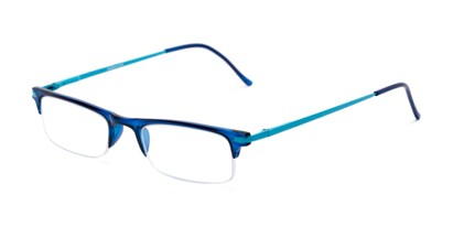 Angle of The Bishop in Blue, Women's and Men's Browline Reading Glasses