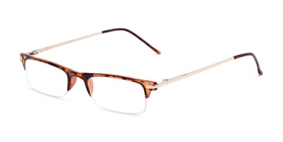 Angle of The Bishop in Tortoise, Women's and Men's Browline Reading Glasses