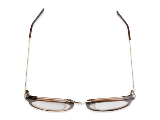 mixed material round wire temples