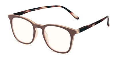 Angle of The Blaire Computer Reader in Brown/Tortoise, Women's and Men's Retro Square Reading Glasses