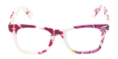 bright floral reading glasses for women