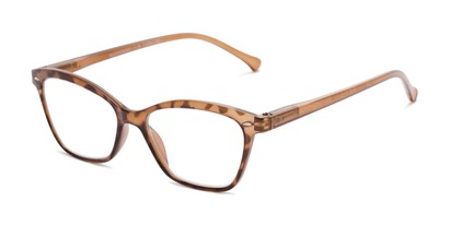 Angle of The Blush in Brown, Women's Cat Eye Reading Glasses