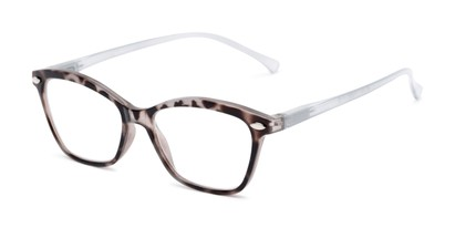 Angle of The Blush in Grey, Women's Cat Eye Reading Glasses