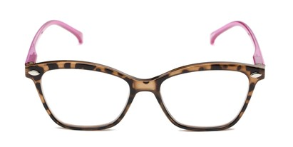 Front of The Blush in Tortoise/Pink