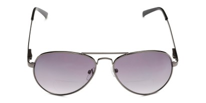 Front of The Bond Bifocal Reading Sunglasses in Grey with Smoke
