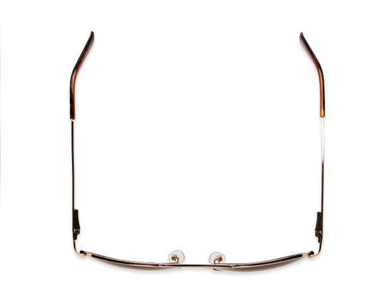 Overhead of The Bond Bifocal Reading Sunglasses in Gold with Amber