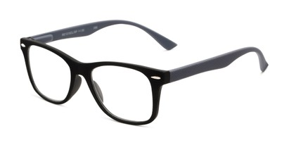 Angle of The Booker in Black/Grey, Women's and Men's Retro Square Reading Glasses