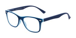 Angle of The Booker in Navy Blue/Blue, Women's and Men's Retro Square Reading Glasses