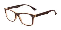 Angle of The Booker in Brown/Tan, Women's and Men's Retro Square Reading Glasses