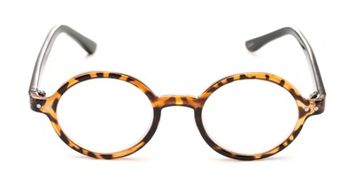 Front of The Bookworm in Brown Tortoise/Black