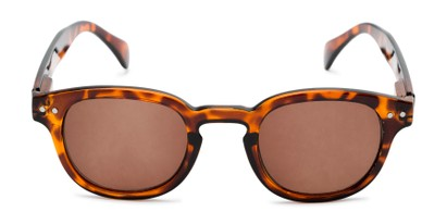 Front of The Bourbon Reading Sunglasses in Tortoise with Amber