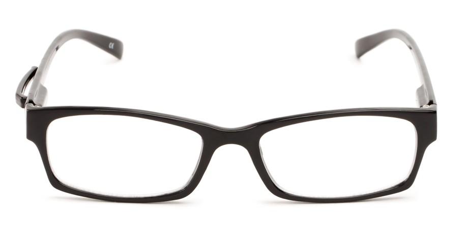 unisex rectangular reading glasses with temple clip