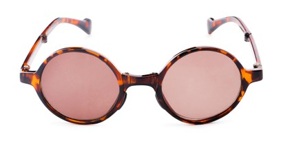 Front of The Brayton Folding Reading Sunglasses in Tortoise with Amber