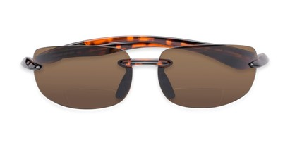 Folded of The Breaker Bifocal Reading Sunglasses in Tortoise with Amber Lenses